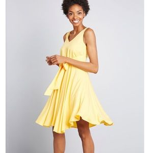 ModCloth Yellow Sleeveless Dress